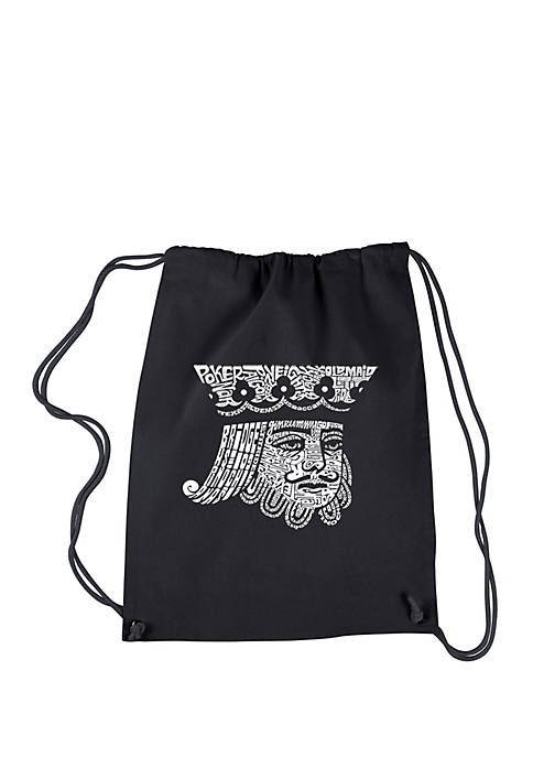 LA Pop Art Drawstring Backpack-King of Spades