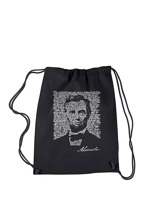 LA Pop Art Drawstring Word Art Backpack Abraham