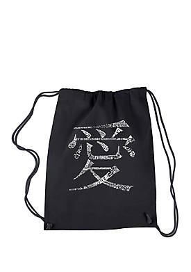 Drawstring Word Art Backpack The Word Love in 44 Languages