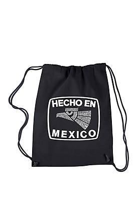 Drawstring Word Art Backpack Hecho en Mexico