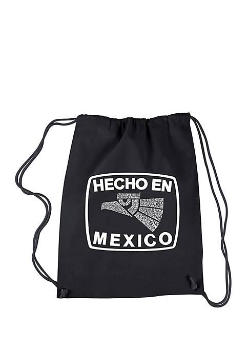 Drawstring Word Art Backpack Hecho en Mexico
