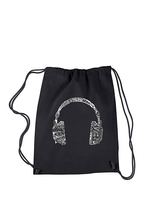 Drawstring Backpack - Headphone- Languages