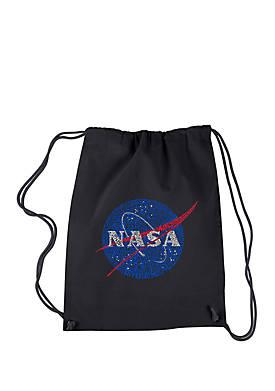 Drawstring Word Art Backpack - NASAs Most Notable Missions