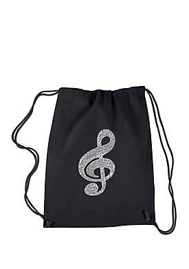 Drawstring Backpack - Music Note