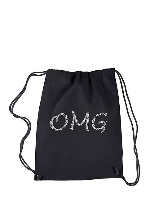 Drawstring Backpack - OMG