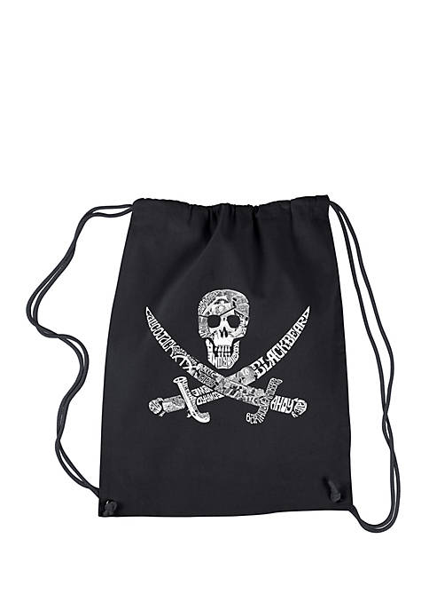 Drawstring Backpack - Pirate Captains, Ships and Imagery