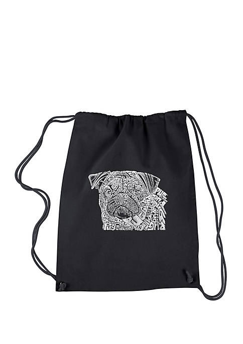 Drawstring Backpack - Pug Face