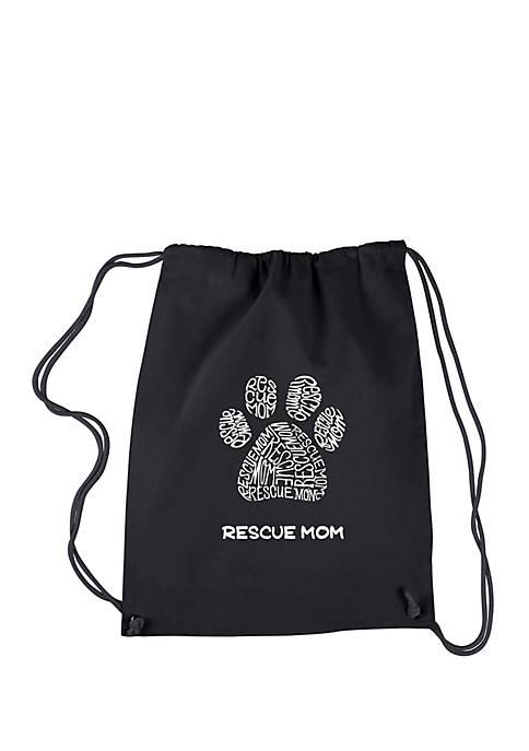 Drawstring Word Art Backpack - Resue Mom