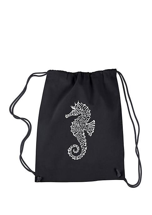LA Pop Art Drawstring Word Art Backpack