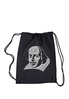 Drawstring Backpack - The Titles of All of William Shakespeares Comedies & Tragedies