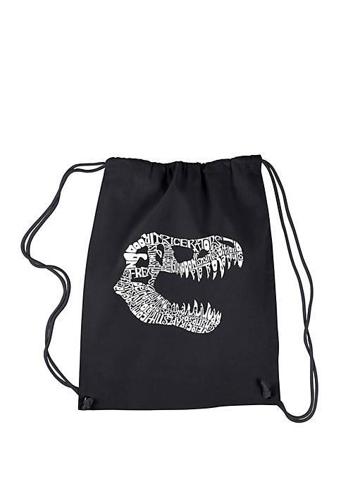 LA Pop Art Drawstring Word Art Backpack T