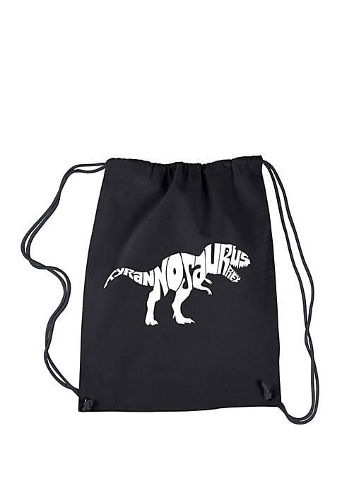 Drawstring Word Art Backpack Tyrannosaurus Rex