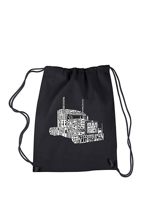 LA Pop Art Drawstring Word Art Backpack Keep