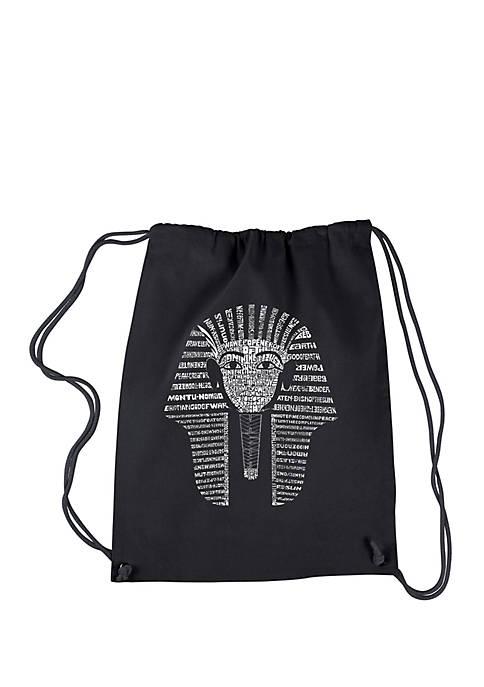 Drawstring Word Art Backpack-King Tut
