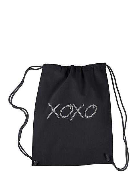 LA Pop Art Drawstring Word Art Backpack XOXO