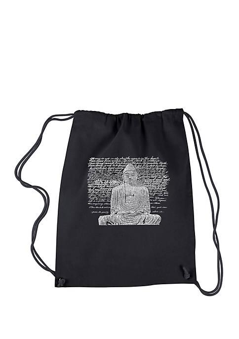 LA Pop Art Drawstring Word Art Backpack Zen