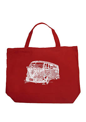Large Word Art Tote Bag - THE 70S