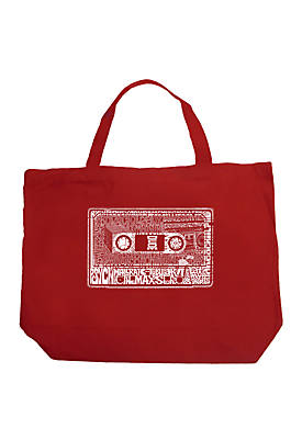 Large Word Art Tote Bag - The 80s