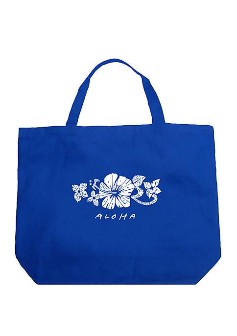 Large Word Art Tote Bag - ALOHA