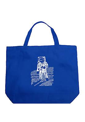 Large Word Art Tote Bag - ASTRONAUT
