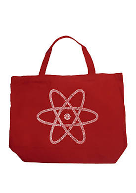 Large Word Art Tote Bag - ATOM