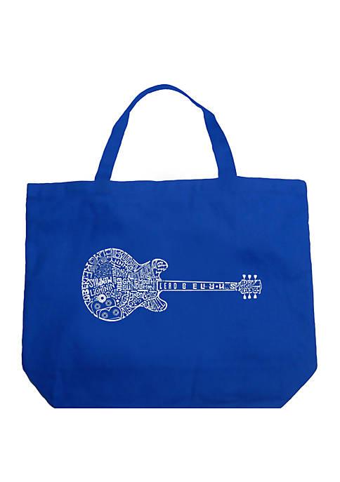 Large Word Art Tote Bag - Blues Legends