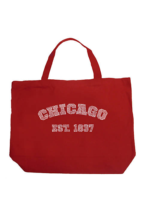 Large Word Art Tote Bag - Chicago 1837