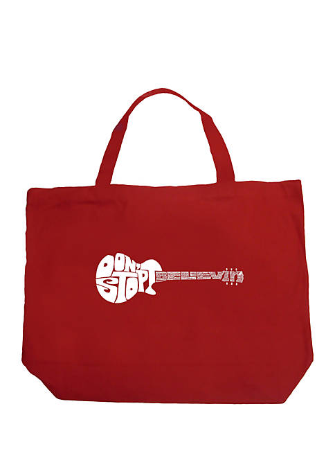 Large Word Art Tote Bag - Dont Stop Believin