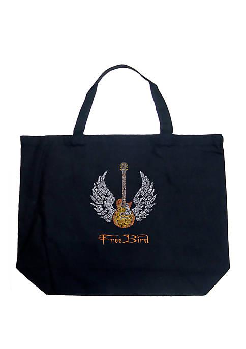 Large Word Art Tote Bag - LYRICS TO FREEBIRD