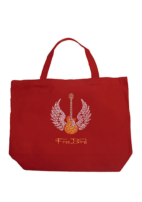 Large Word Art Tote Bag - LYRICS TO FREEBIRD