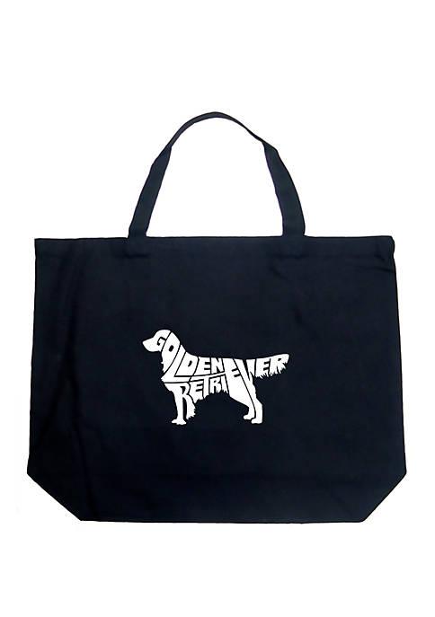 Large Word Art Tote Bag - Golden Retreiver