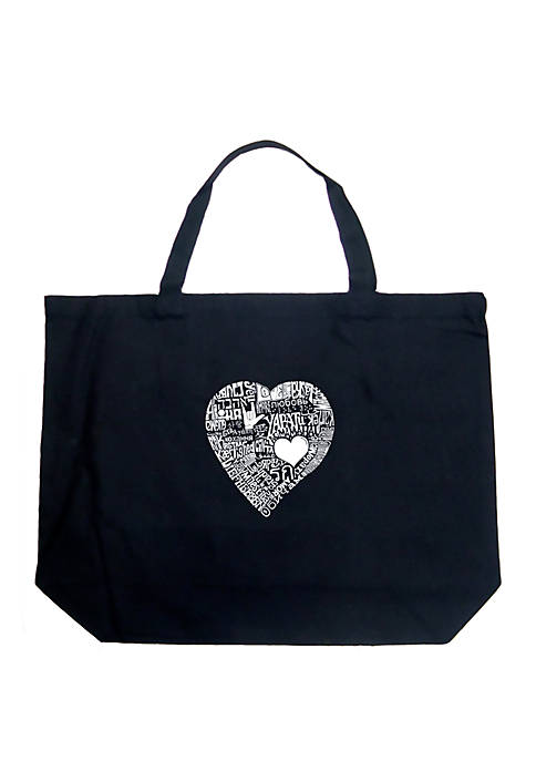 Large Word Art Tote Bag - LOVE IN 44 DIFFERENT LANGUAGES