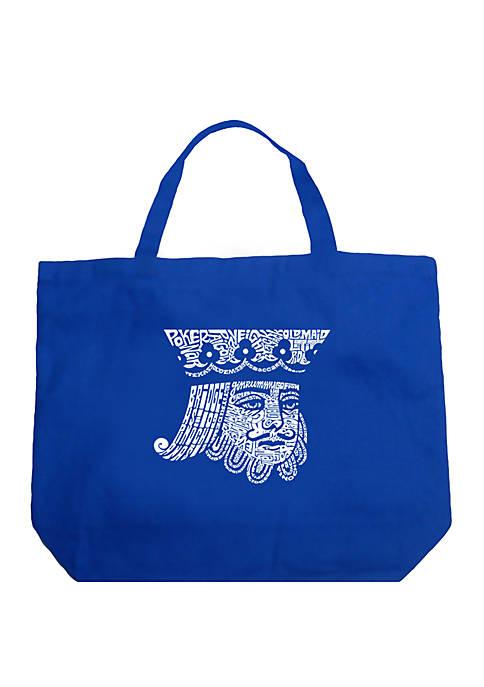 Large Word Art Tote Bag - King of Spades