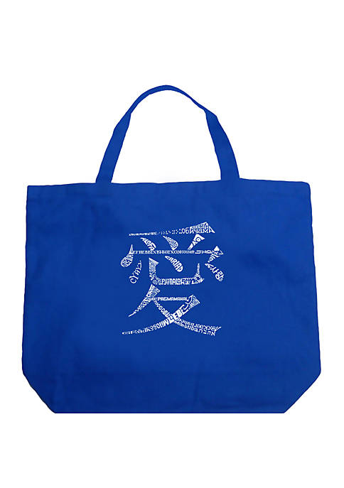 Large Word Art Tote Bag - The Word Love in 44 Languages