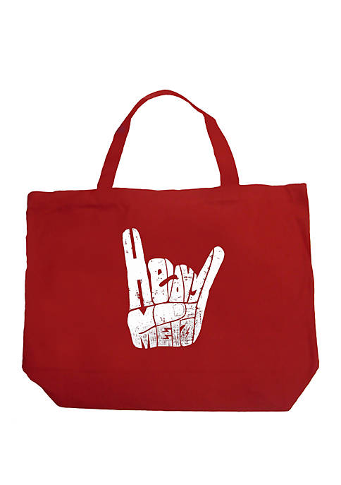 LA Pop Art Large Word Art Tote Bag