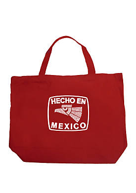 Large Word Art Tote Bag - Hecho En Mexico