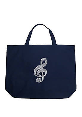 Large Word Art Tote Bag - Music Note