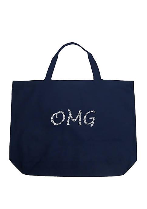 Large Word Art Tote Bag - OMG