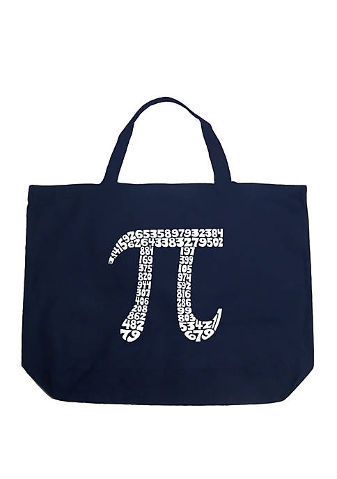 Large Word Art Tote Bag - THE FIRST 100 DIGITS OF PI
