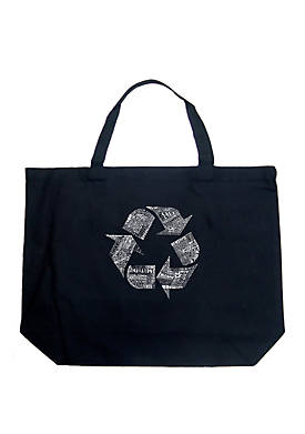 Large Word Art Tote Bag - 86 Recyclable Products