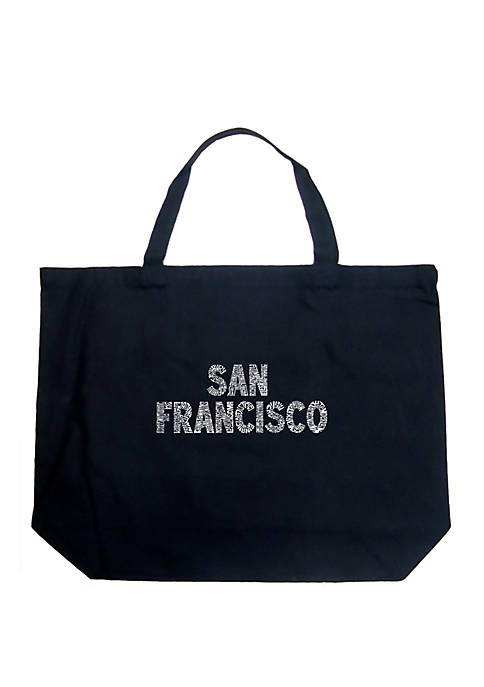 LA Pop Art Large Word Art Tote Bag