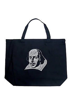 Large Word Art Tote Bag - The Titles of All of William Shakespeares Comedies & Tragedies