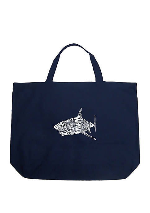 Large Word Art Tote Bag - SPECIES OF SHARK