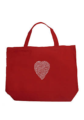 Large Word Art Tote Bag - William Shakespeare Sonnet 18