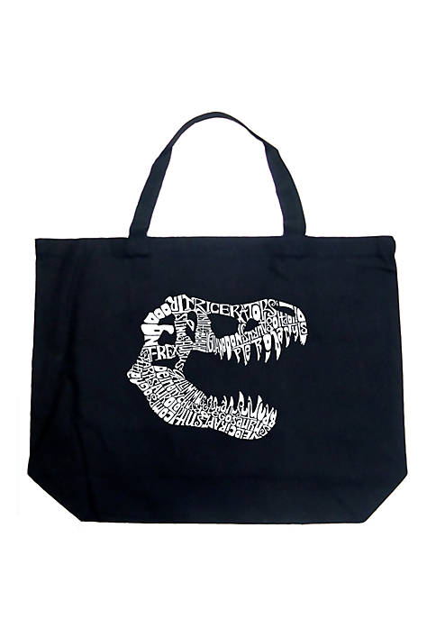 Large Word Art Tote Bag - T-Rex