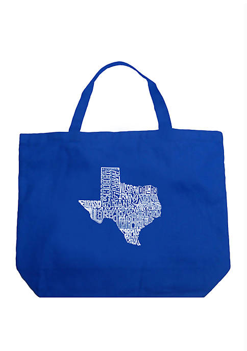 Large Word Art Tote Bag - The Great State of Texas
