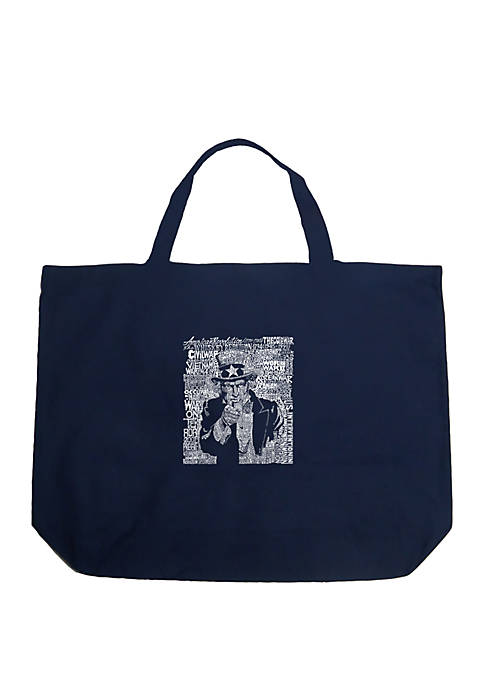 Large Word Art Tote Bag - UNCLE SAM