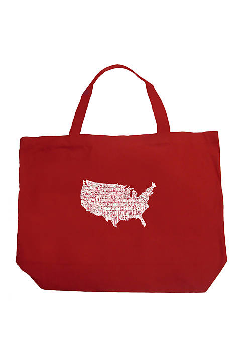 Large Word Art Tote Bag - THE STAR SPANGLED BANNER
