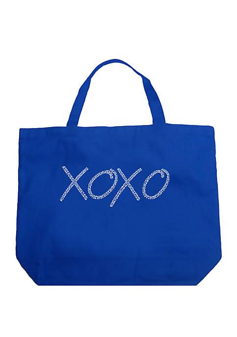 Large Word Art Tote Bag - XOXO