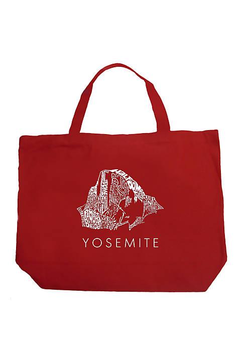 Large Word Art Tote Bag - Yosemite